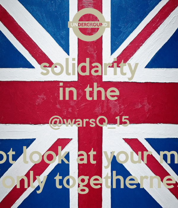solidarity in the @warsQ_15 do not look at your money it only togetherness