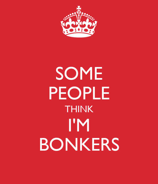 SOME PEOPLE THINK I'M BONKERS