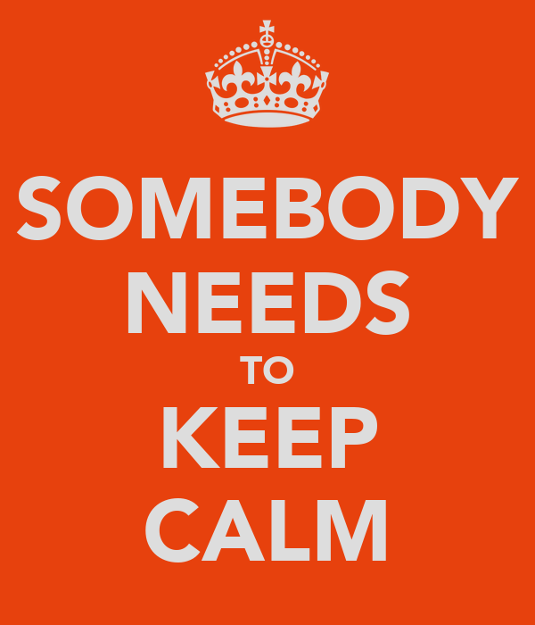 SOMEBODY NEEDS TO KEEP CALM