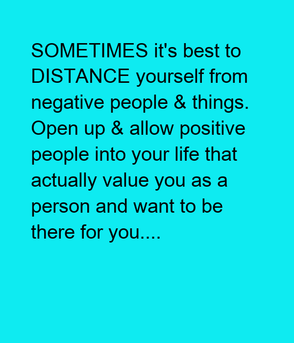 how to distance yourself