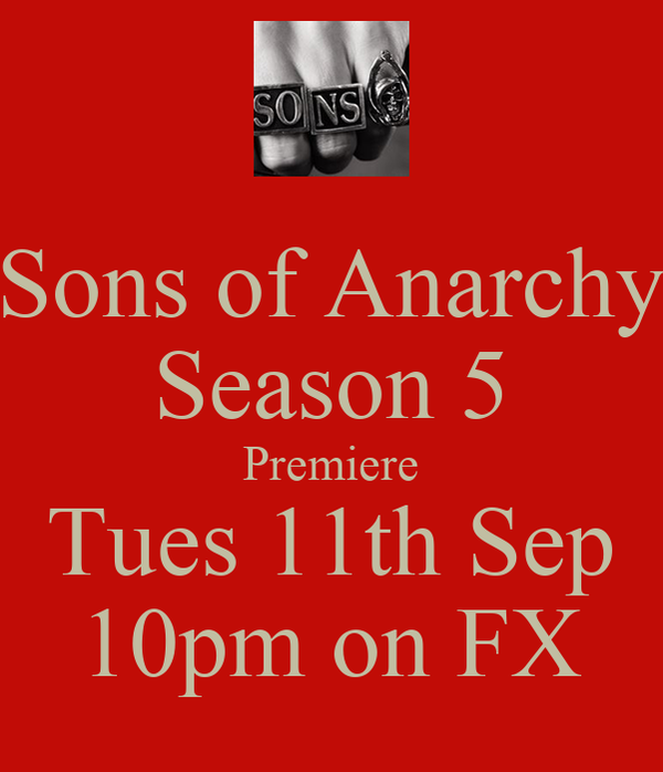 Sons of Anarchy Season 5 Premiere Tues 11th Sep 10pm on FX
