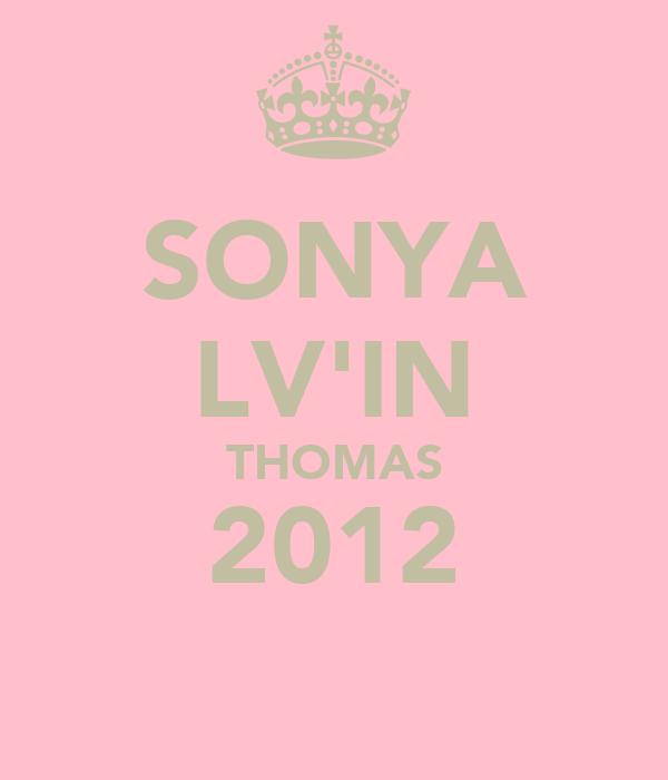 SONYA LV'IN THOMAS 2012
