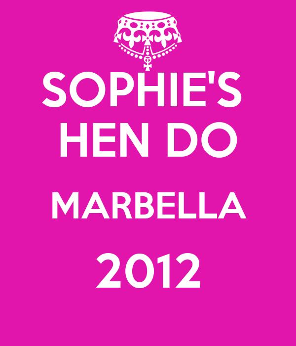 SOPHIE'S  HEN DO MARBELLA 2012