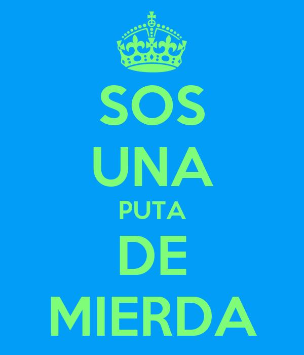 SOS UNA PUTA DE MIERDA