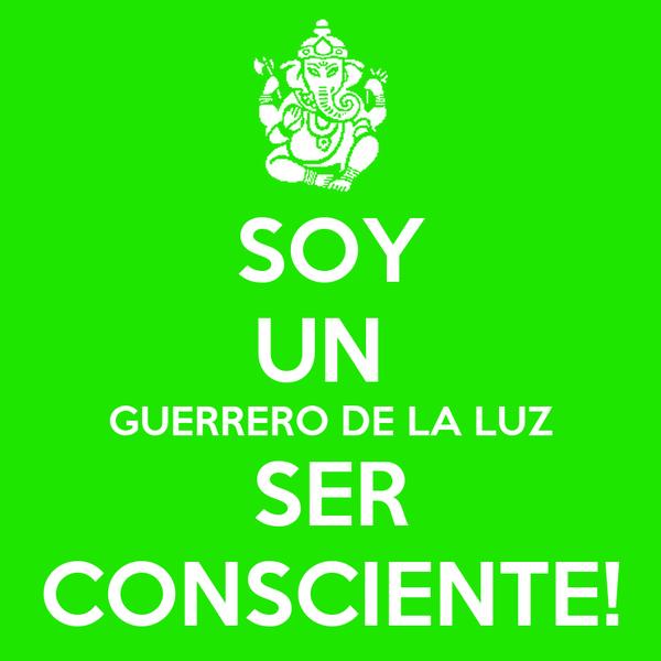 SOY UN  GUERRERO DE LA LUZ SER CONSCIENTE!