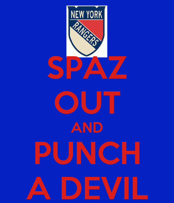 SPAZ OUT AND PUNCH A DEVIL