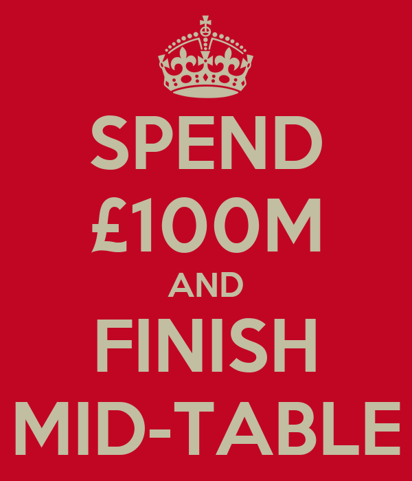 SPEND £100M AND FINISH MID-TABLE