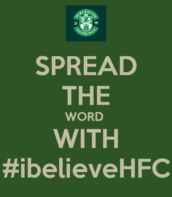 SPREAD THE WORD  WITH #ibelieveHFC