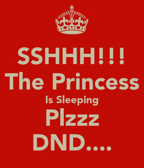 SSHHH!!! The Princess Is Sleeping Plzzz DND....