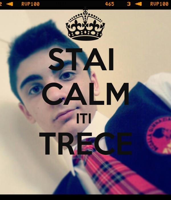 STAI  CALM ITI  TRECE
