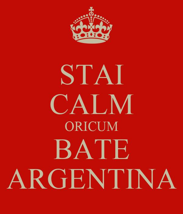 STAI CALM ORICUM BATE ARGENTINA