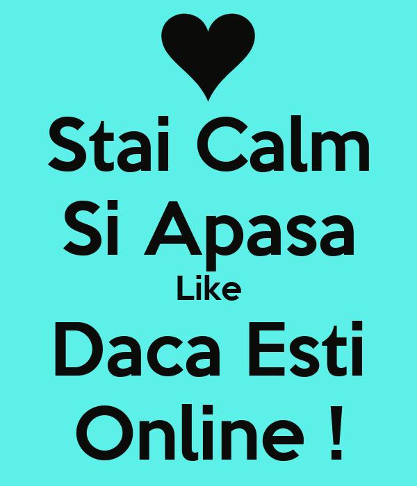 Stai Calm Si Apasa Like Daca Esti Online !