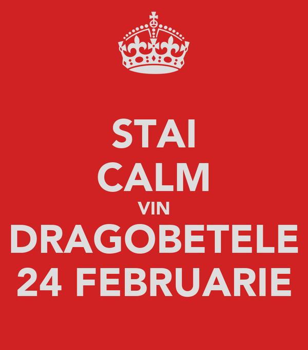 STAI CALM VIN DRAGOBETELE 24 FEBRUARIE