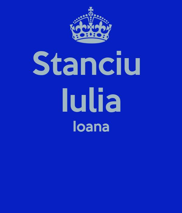 Stanciu  Iulia Ioana