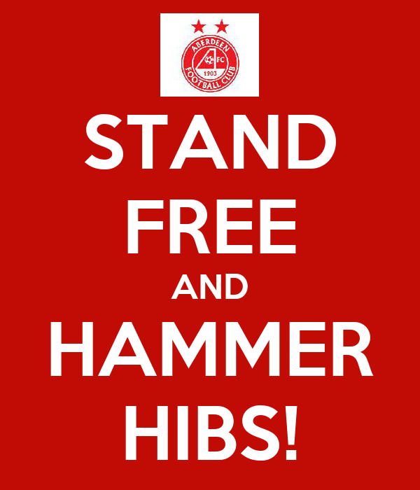 STAND FREE AND HAMMER HIBS!