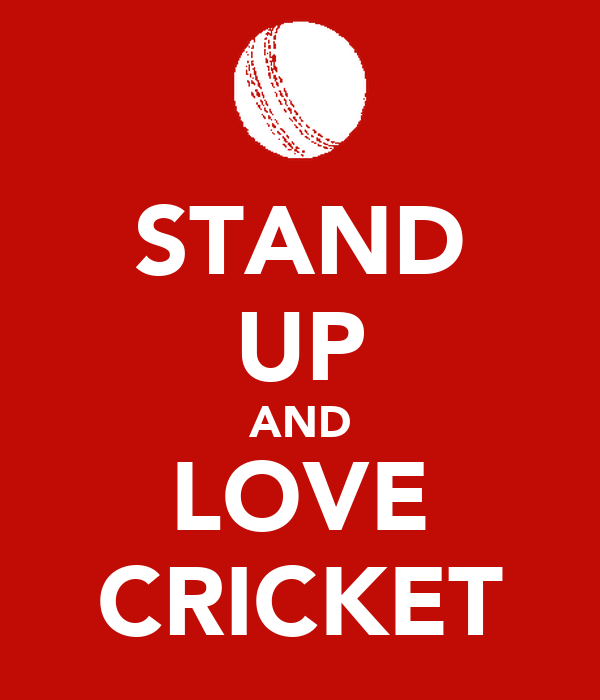 STAND UP AND LOVE CRICKET