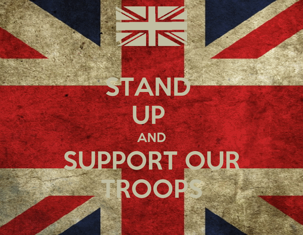 STAND  UP  AND SUPPORT OUR TROOPS