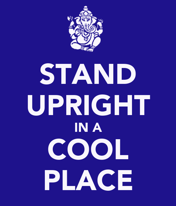 STAND UPRIGHT IN A COOL PLACE