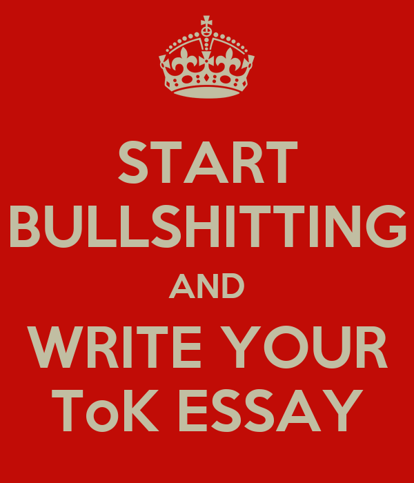 how towards write your own tok essay