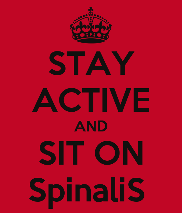 STAY ACTIVE AND SIT ON SpinaliS