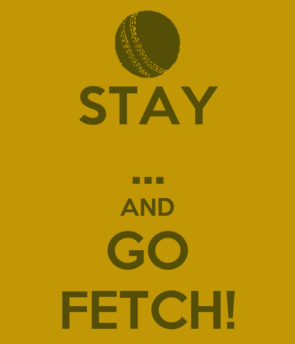 STAY ... AND GO FETCH!