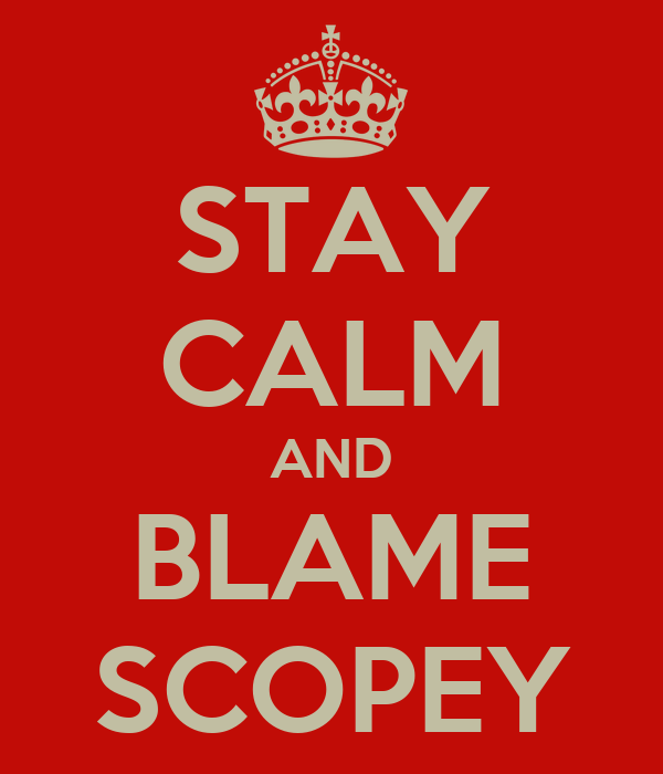 STAY CALM AND BLAME SCOPEY