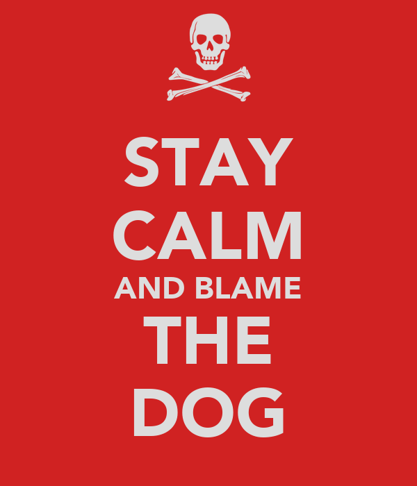 STAY CALM AND BLAME THE DOG