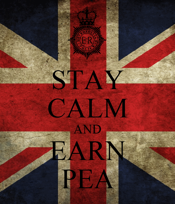 STAY CALM AND EARN PEA