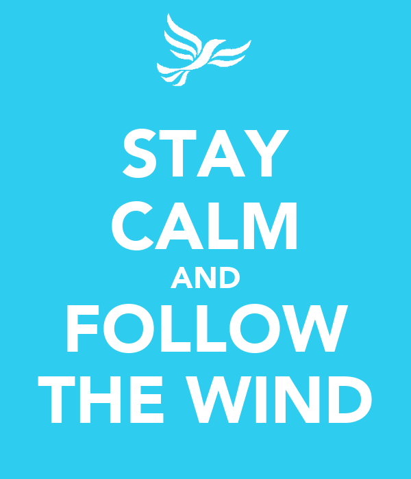 STAY CALM AND FOLLOW THE WIND