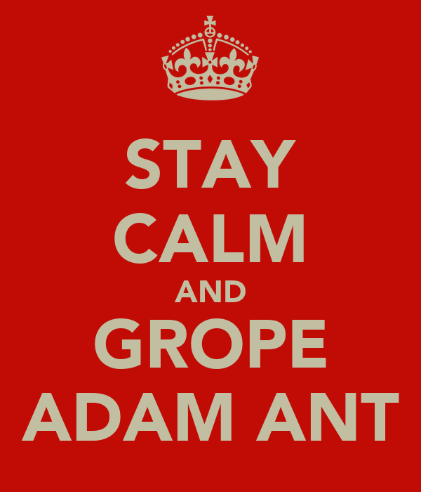 STAY CALM AND GROPE ADAM ANT