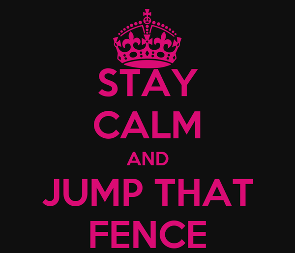STAY CALM AND JUMP THAT FENCE