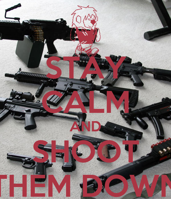 STAY CALM AND SHOOT THEM DOWN