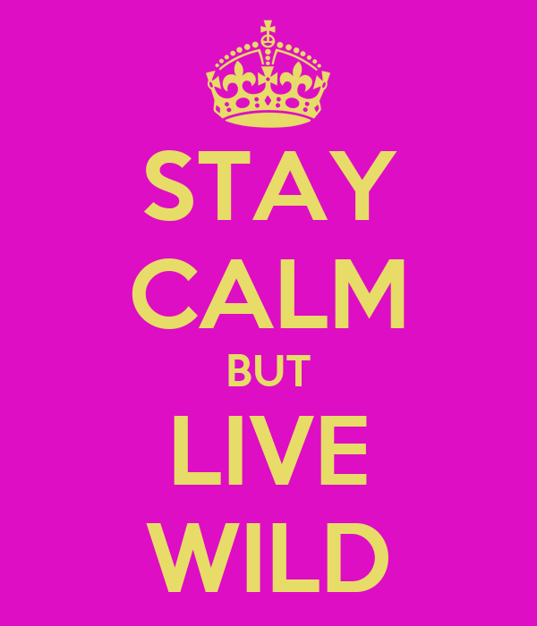 STAY CALM BUT LIVE WILD