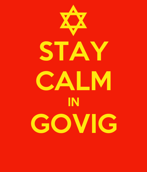STAY CALM IN GOVIG