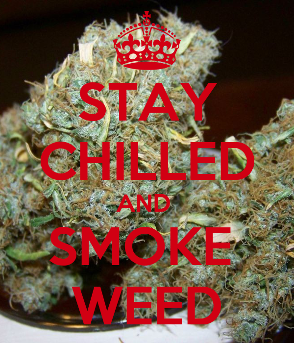 STAY CHILLED AND  SMOKE  WEED
