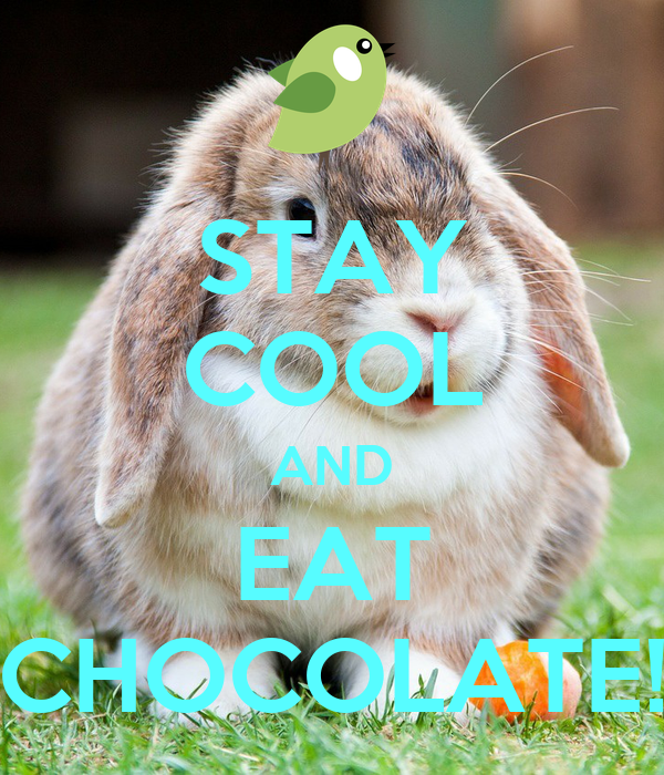 STAY COOL AND EAT CHOCOLATE!