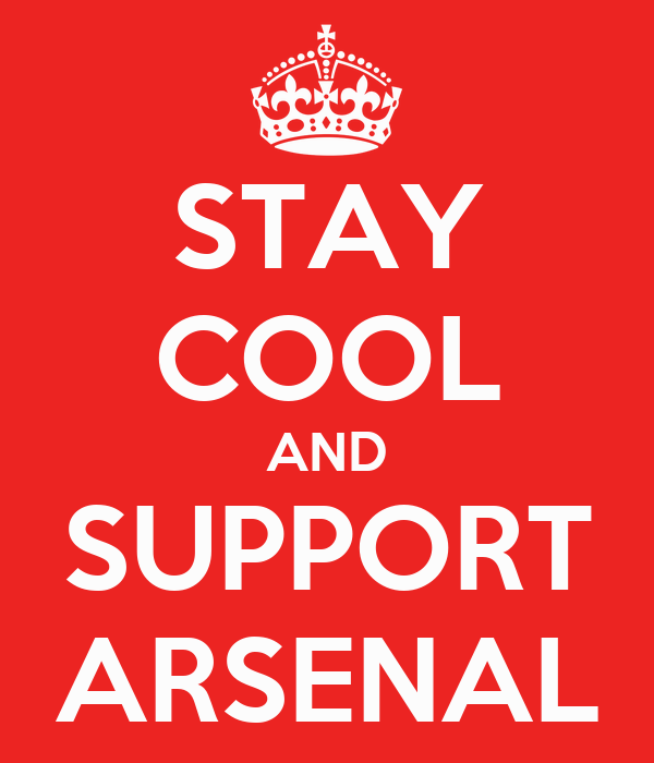 STAY COOL AND SUPPORT ARSENAL