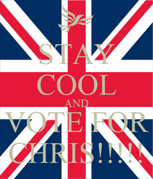 STAY COOL AND VOTE FOR CHRIS!!!!!