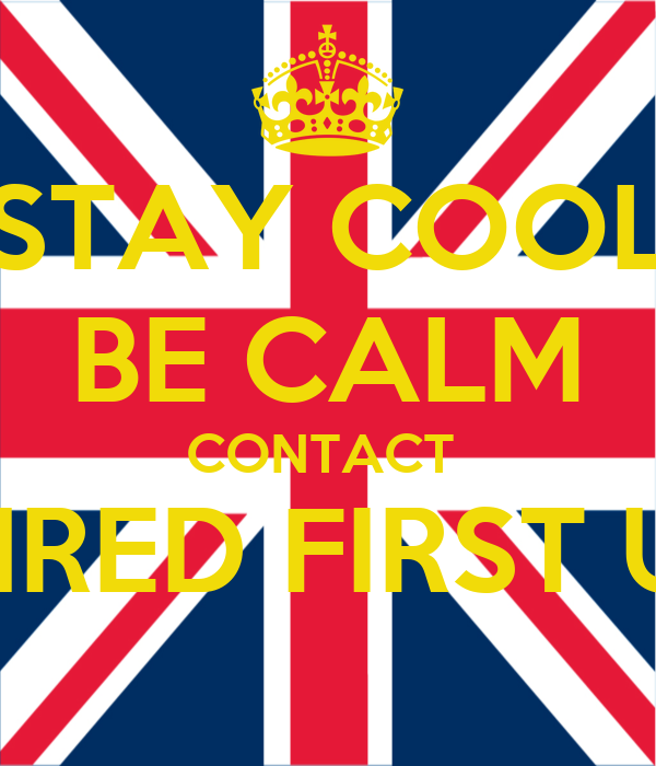 STAY COOL BE CALM CONTACT  SHRED FIRST UK