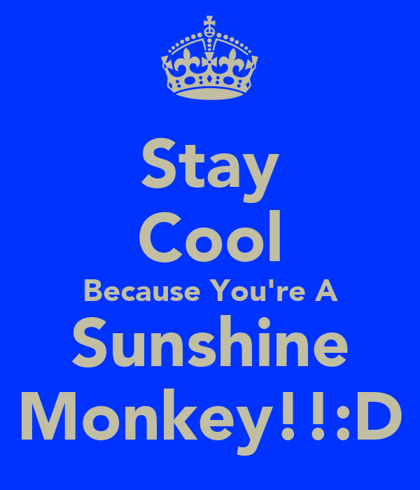 Stay Cool Because You're A Sunshine Monkey!!:D