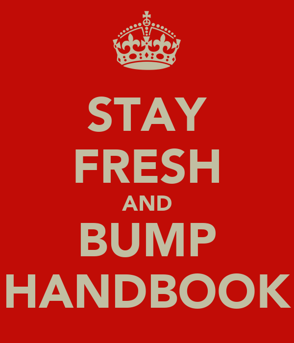 STAY FRESH AND BUMP HANDBOOK