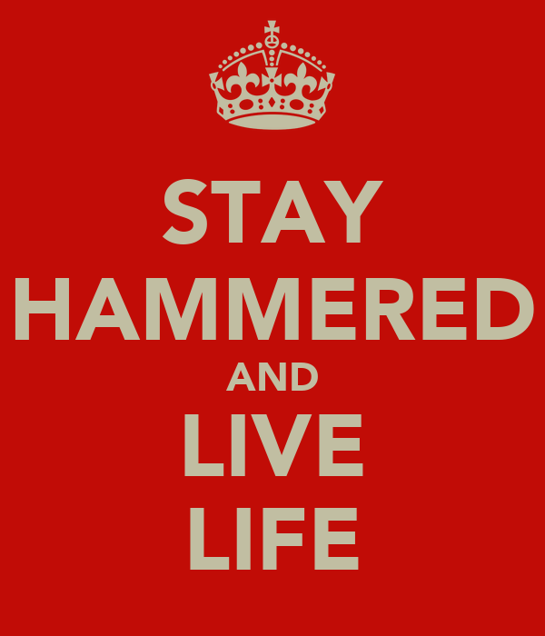 STAY HAMMERED AND LIVE LIFE