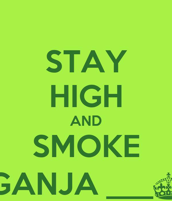 STAY HIGH AND SMOKE GANJA ___§