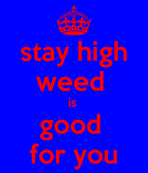 stay high weed  is  good  for you