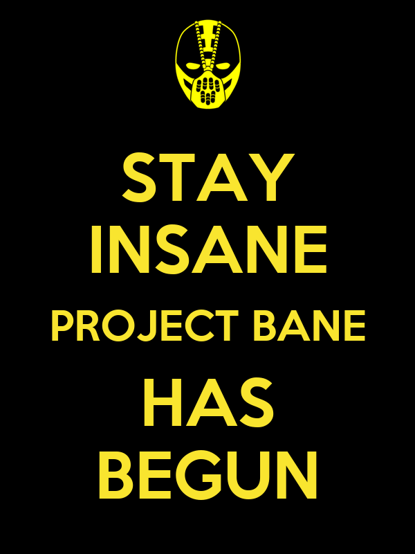 STAY INSANE PROJECT BANE HAS BEGUN