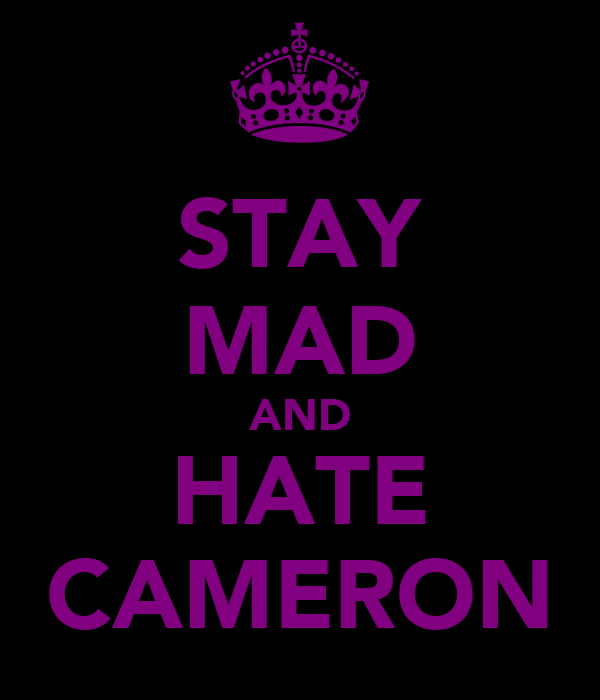 STAY MAD AND HATE CAMERON