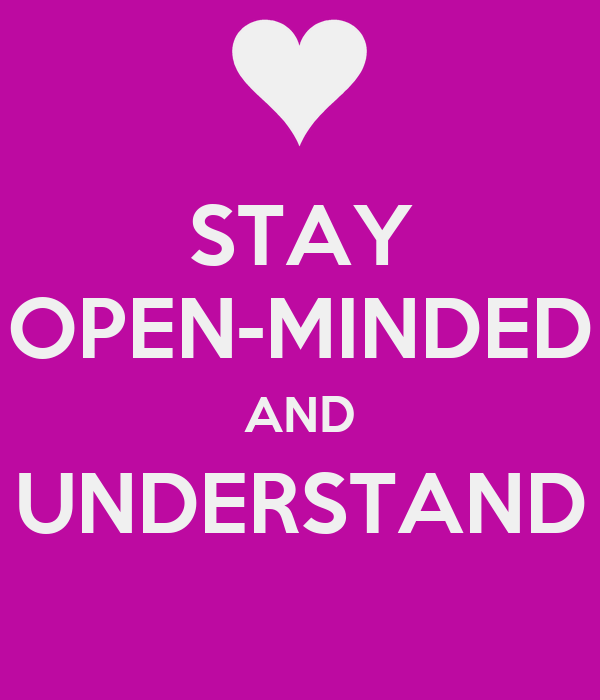 how to be an open minded person