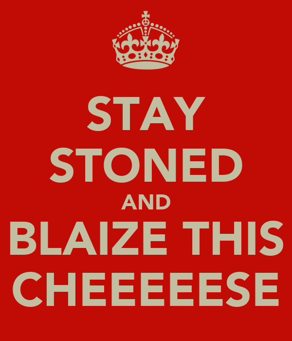 STAY STONED AND BLAIZE THIS CHEEEEESE