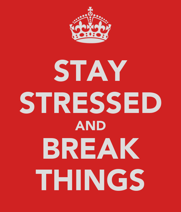 STAY STRESSED AND BREAK THINGS