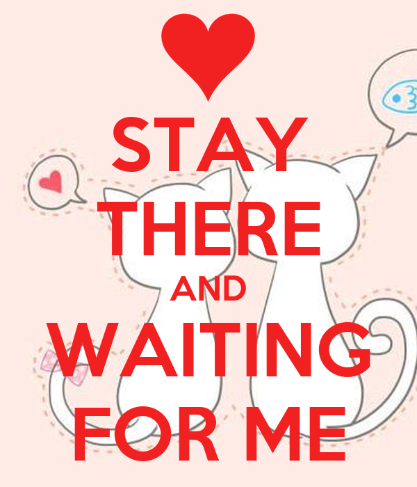 STAY THERE AND WAITING FOR ME